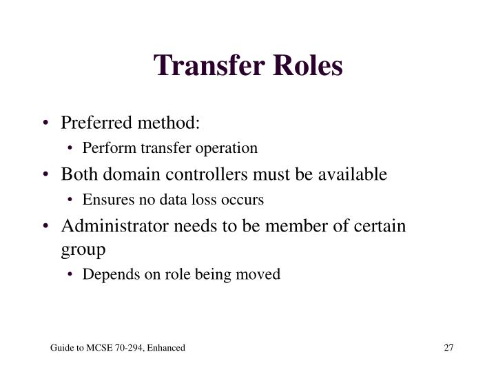 Transfer Roles