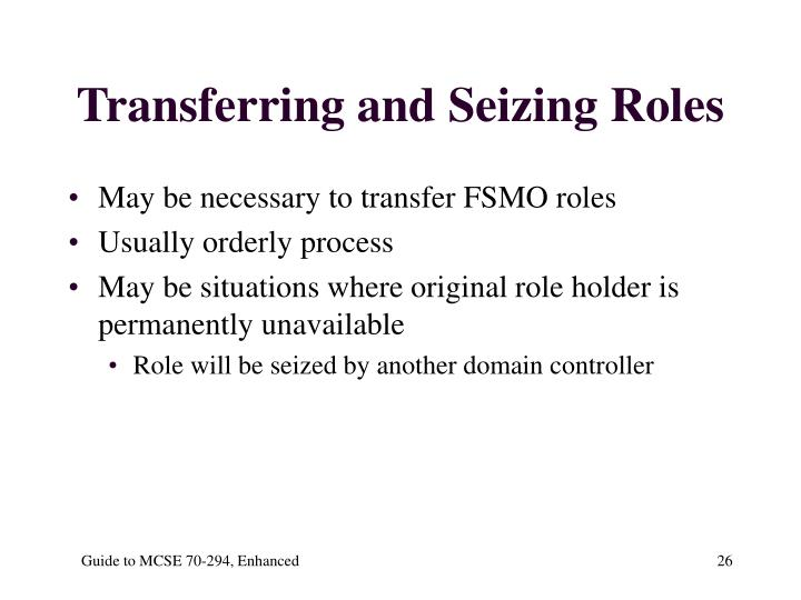 Transferring and Seizing Roles