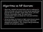 algoritma ve np kavram