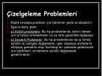 izelgeleme problemleri