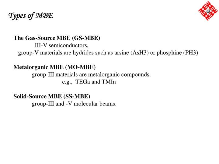 Types of MBE