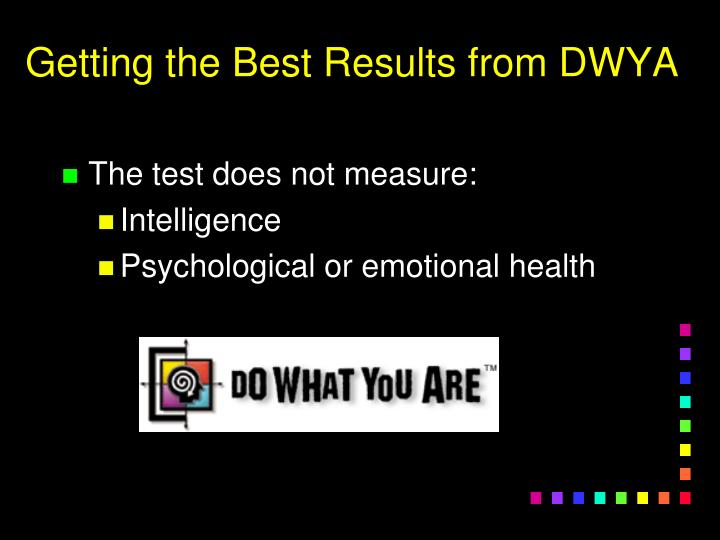 Getting the Best Results from DWYA