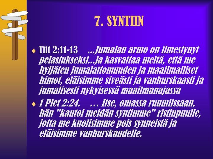 7. SYNTIIN