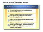 failure of other operations masters