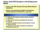failure of the pdc emulator or the infrastructure master
