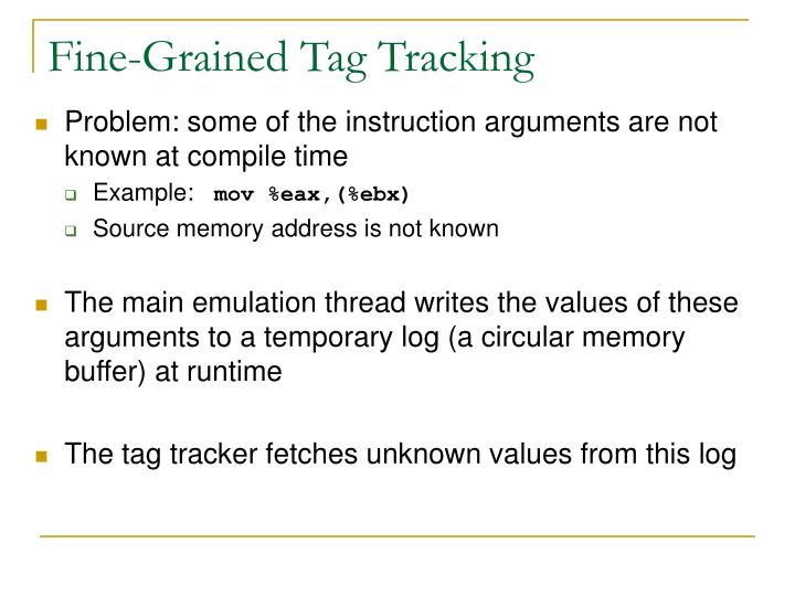 Fine-Grained Tag Tracking