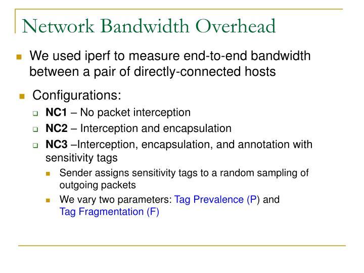 Network Bandwidth Overhead
