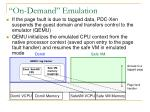 on demand emulation1