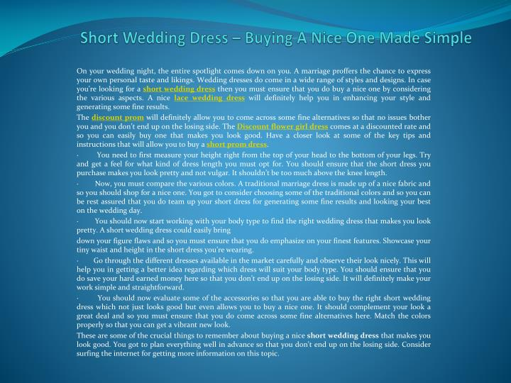 Short wedding dress buying a nice one made simple
