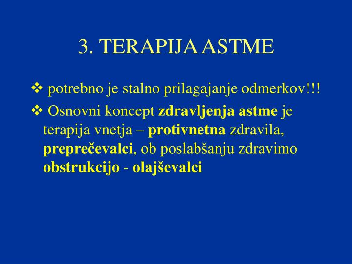 3. TERAPIJA ASTME