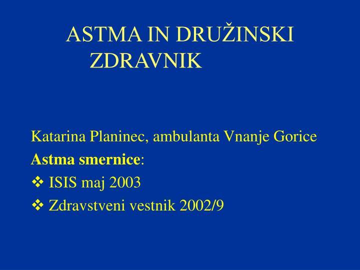 astma in dru inski zdravnik