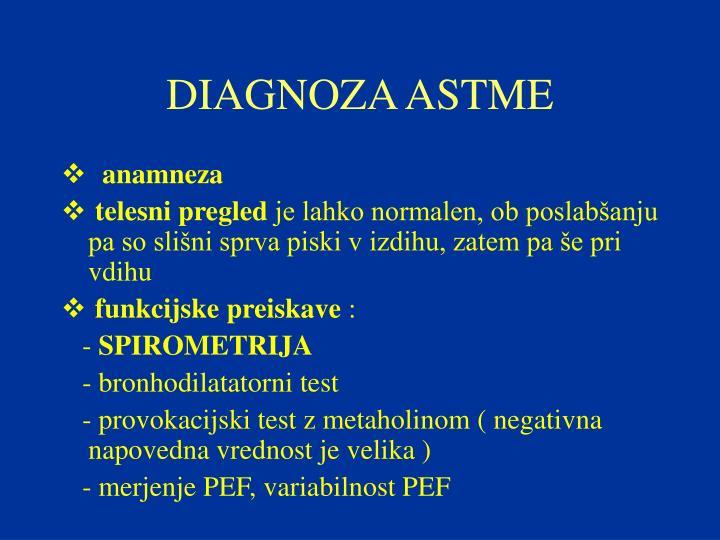DIAGNOZA ASTME