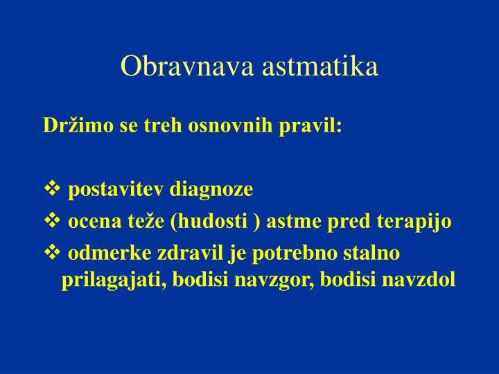 Obravnava astmatika
