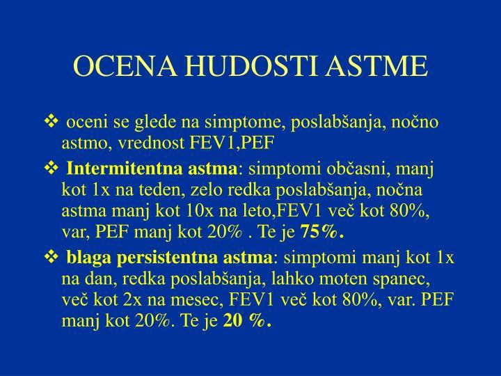 OCENA HUDOSTI ASTME