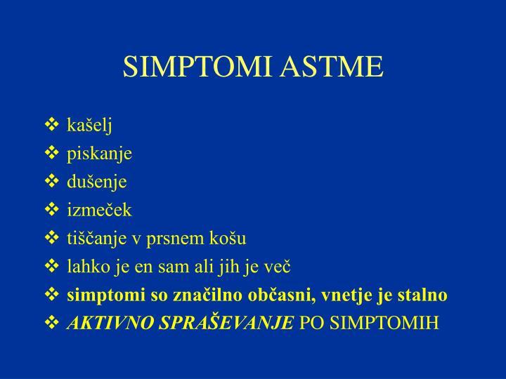 SIMPTOMI ASTME