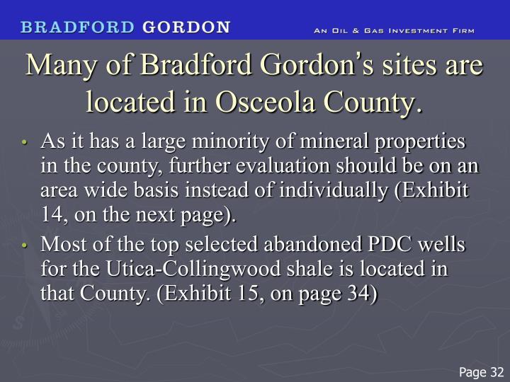 Many of Bradford Gordon