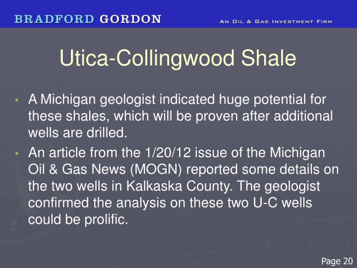 Utica-Collingwood Shale