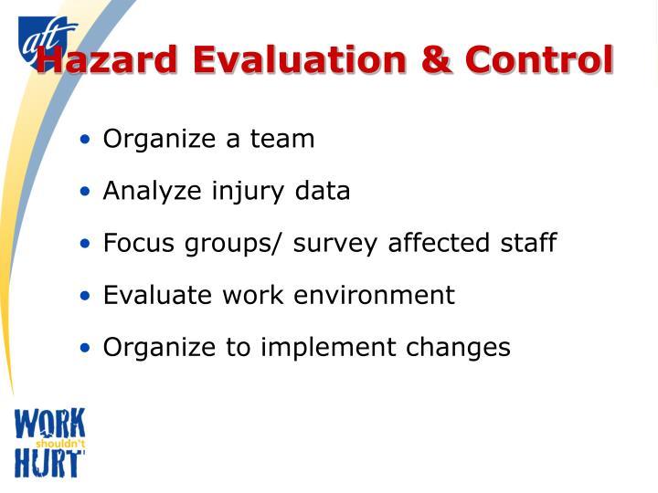 Hazard Evaluation & Control