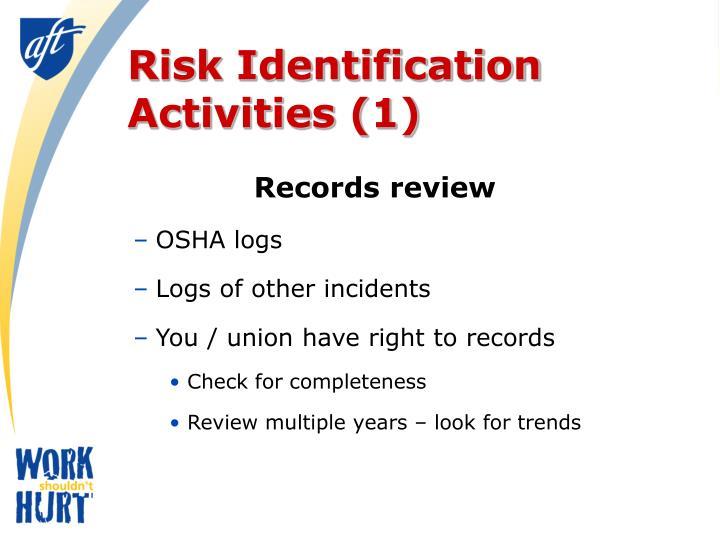 Risk Identification Activities (1)