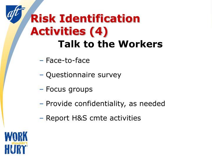 Risk Identification Activities (4)