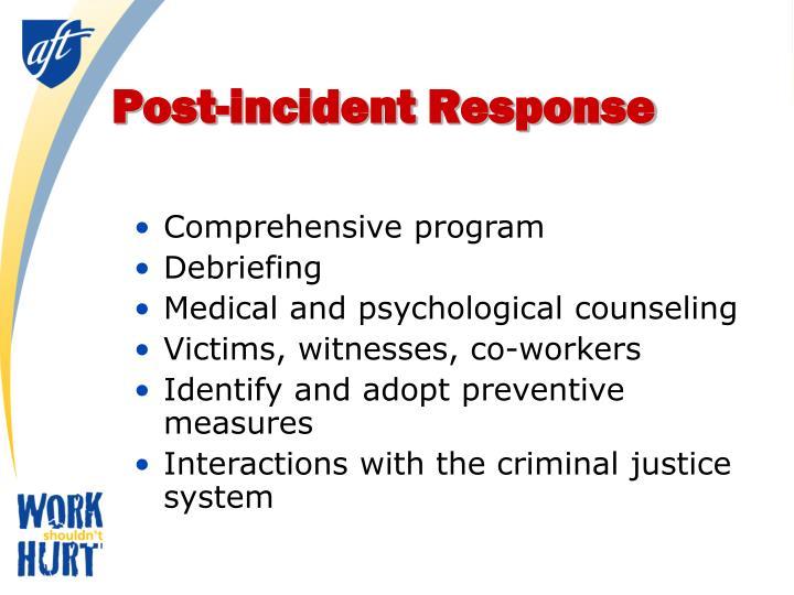 Post-incident Response