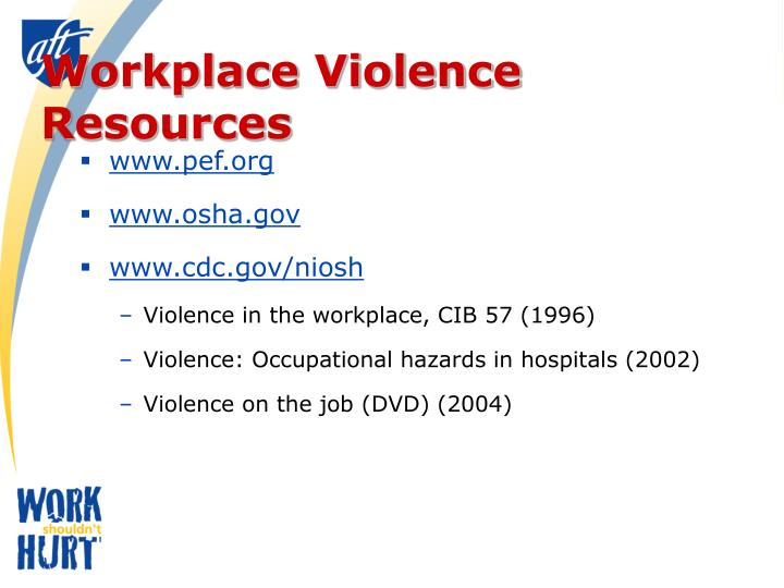 Workplace Violence Resources