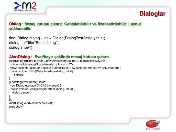 Dialoglar