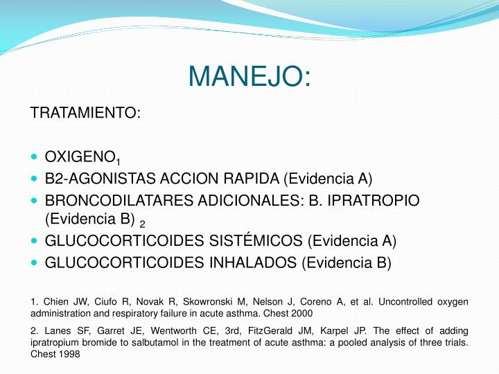 MANEJO: