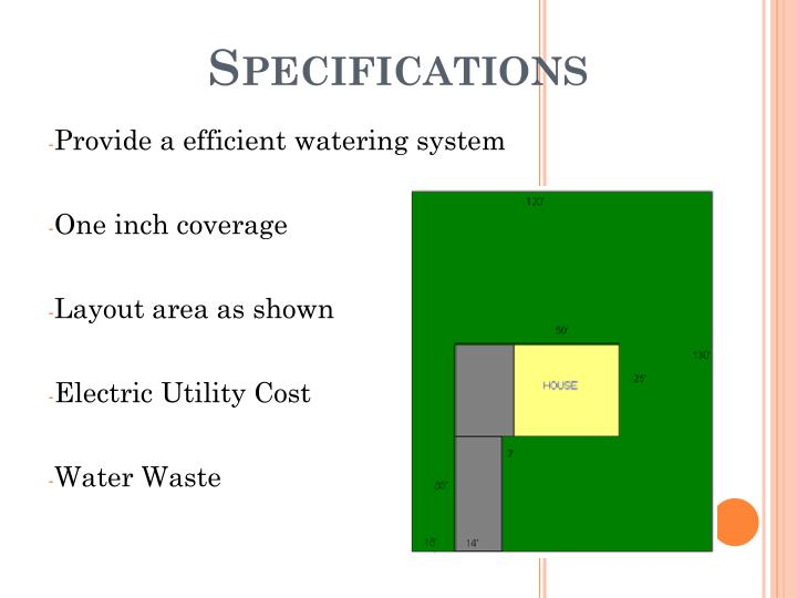 Provide a efficient watering system