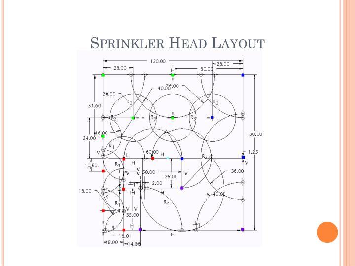 Sprinkler Head Layout