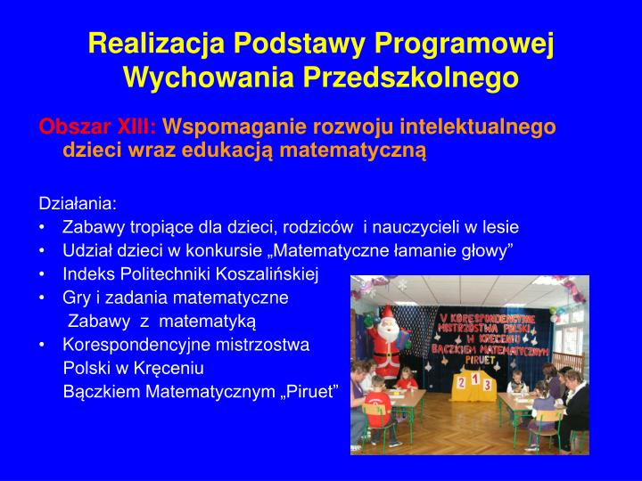 Realizacja Podstawy Programowej Wychowania Przedszkolnego