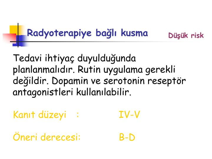 Radyoterapiye bağlı kusma