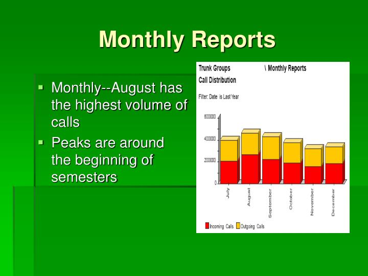 Monthly Reports