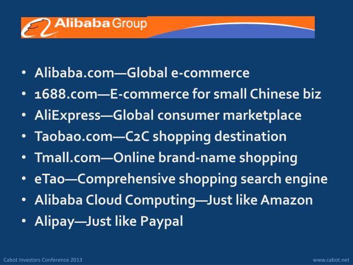 Alibaba.com—Global e-commerce