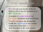 mime specification