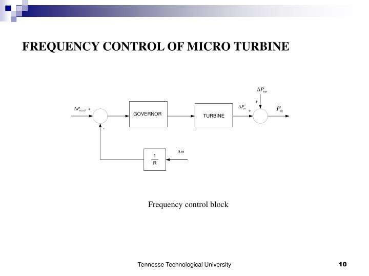 FREQUENCY CONTROL OF MICRO TURBINE