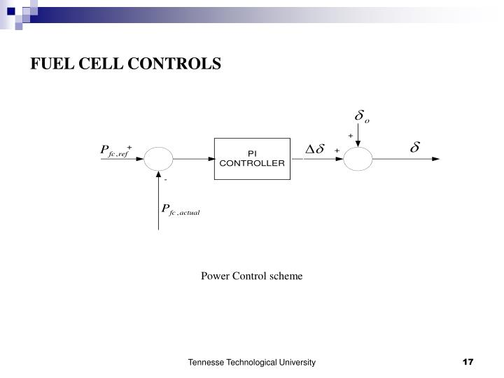 FUEL CELL CONTROLS