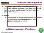 address management application