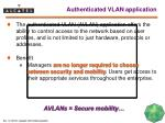 authenticated vlan application