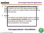 converged network application