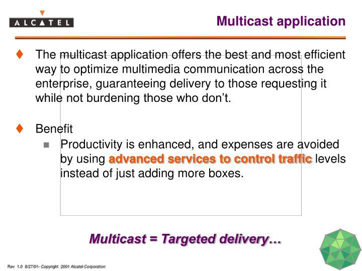 Multicast application