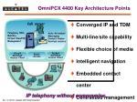 omnipcx 4400 key architecture points