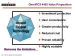 omnipcx 4400 value proposition