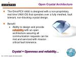 open crystal architecture