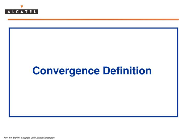 Convergence Definition