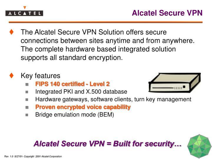 Alcatel Secure VPN