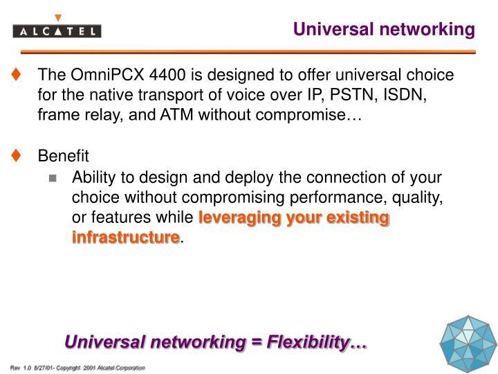 Universal networking