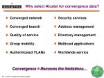 why select alcatel for convergence data