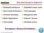 why select alcatel for telephony