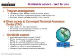 worldwide service built for you1